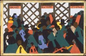 Jacob Lawrence, Migration Series, Panel 1, The Phillips Collection